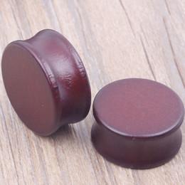 fashion brown flare piercing body jewelry ear plugs tunnels wood ear gauges sale 70pcs mix 8-22mm