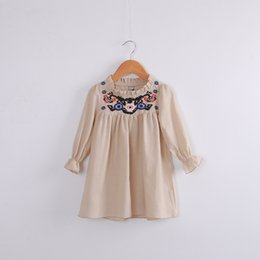 Wholesale Hug Me Baby Girls Lace Tutu Dresses Spring Childrens Long Sleeve for Kids Clothing New Party Embroidery Tassels Dress BB