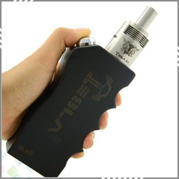 Wholesale Authentic Tesla Invader Wooden E Cigarette Battery Mod Box Mods E Cig Vaporizer Human Body Engineering Works With RDA RBA RTA Atomizers