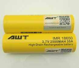 Wholesale 50X Best Selling Products Battery AWT mah A High Drain IMR Battery Lithium Rechargeble Battery for E cigarette