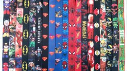 Wholesale DHL Superhero Avengers Justice League Marvel Lanyards Keychain ID Badge Holder