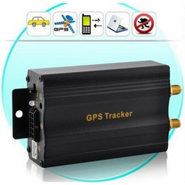 Wholesale Car GPS tracker TK103A Vehicle Quadband cut off fuel SD card slot TK GSM SMS GPRS Tracking Device top sale free shiping