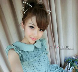 Wholesale Hairdresser Hair Clip for Benefits If The Wing with Stylish New Models Pearl Orecchiette Metal Bands Headband Headdress Accessories Ss0057