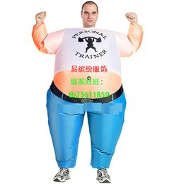 Wholesale 2015 blow up Personal Trainer funny costume inflatable party fancy dress fat keep fit man