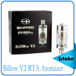 Billow v2 à vendre-2015 Nouvelle arrivée Bulow V2 RTA 5ML réservoir Bulow V2 RTA atomiseur 304 SS + verre Pyrex + POM remplacement double bobine vs Sense Herakles