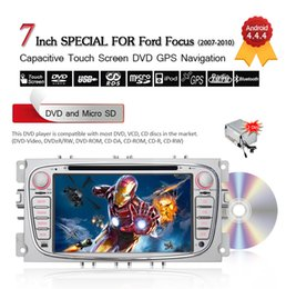 """Wholesale Car Navigation 2din - 7"""" 2Din Android 4.4.4 Car DVD Player For Ford Focus Mondeo S-max C-max Galaxy 3G Wifi Bluetooth GPS Navigation Free 8GB Card CDVD0006"""