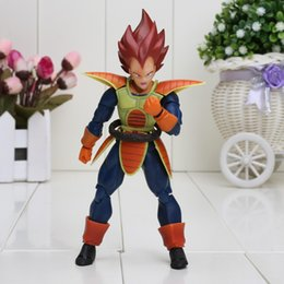 Wholesale 15CM SHFiguarts Dragon Ball Z Vegeta Battle Status PVC Action Figure Collectible Model Toy in box