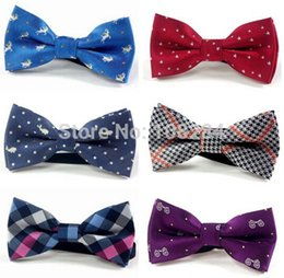 Wholesale children bow ties baby animal pattern rubber band can be adjusted