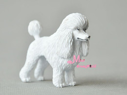 Wholesale-PET Lovely White Puppy Dog Poodle Cute 1 12 Dollhouse Miniature Animal