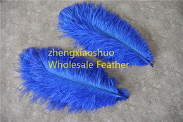 wholesale 100pcs lot 12-14inch 30-35cm royal blue Ostrich Feather Plumes for Wedding centerpiece christmas feather decoraction