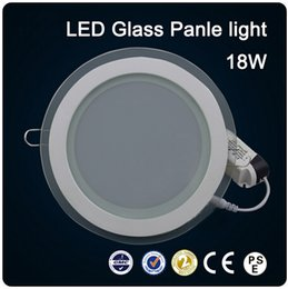 Super bright LED glass round 18W Panel Recessed Wall Ceiling Downlight AC85-265V high bright SMD5730 LED indoor light