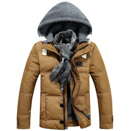 Fall-Fashion men Jacket & hoodies with white duct down for winter jackets men new brand male Down & jacket with thicken outwear