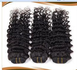 100% human hair #1B natural color 6A Malaysia Malaysia's real hair color natural hair shade ditty Malaysian Deep Wave Hair 8-30 inch