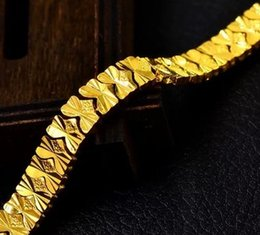 chaming yellow gold chain men's bracelet (pfmcgy88) fghfh