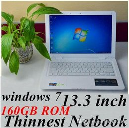 Wholesale 13 inch notebook Intel Atom D2500 Dual core1 Ghz Netbook with windows system GB RAM GB ROM MP Camera laptop computer