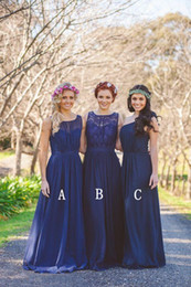 2016 royal blue bridesmaid dresses chiffon Plus size long A-Line cheap bridesmaids formal dresses Floor length