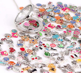 Wholesale Price 100PCS lot Mixed Loose Charm Beads Floating Charms For Magnetic Glass Living Lockets Fashion Jewelrys