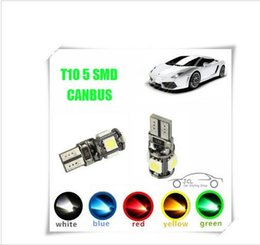 Wholesale 100PCS T10 SMD led Canbus Error Free Car Lights W5W SMD LIGHT BULBS ERROR White Blue Red Pink Green