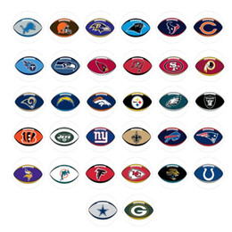 Wholesale newest FOOTBALL snap button jewelry charm popper for bracelet GL052 noosa jewelry making supplier