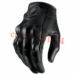 Wholesale-Retro Pursuit Real Leather Motorcycle Gloves Moto Waterproof Gloves Motorcycle Protective Gears Motocross Glove