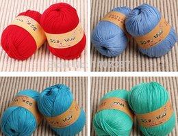 Wholesale First class quality ball pack g ball Baby yarn silk protein milk cotton hand knitting baby wool yarn