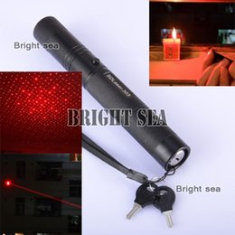 Wholesale Promotion mw Red Laser Pointer Pen with Charger Retail box MW Red lasers Pointer with Battery charger Burn match
