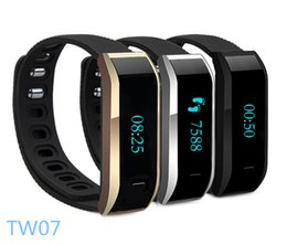 Wholesale Bluetooth Smartband waterproof TW07 Smart Bracelet Fitness Tracker Sleep Monitor Wristband For IOS Android System Moblie Phone