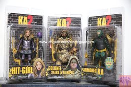 Wholesale NECA Kick Ass Hit Girl Colonel Stars Armored KA PVC Action Figure Collectible Toys set quot cm MVFG205