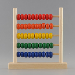 Wholesale 5 Row Classic Bead Wooden Abacus Child Educationnal Calculate Count Numbers dandys