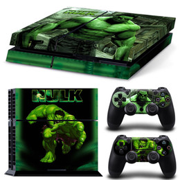 Superb Hulk Vinyl Decal PS4 Skin Stickers Protector For PlayStation 4 Console & 2 PCS Skin Stickers for PS4 Controller
