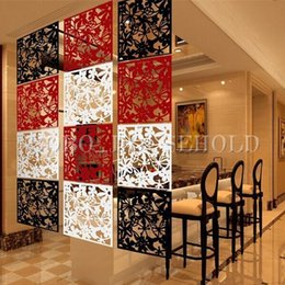 Wholesale Plastic Hanging Screen Partition Room Divider Butterfly Flower Wall Home Sticker