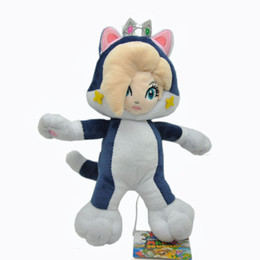 """Hot New 9"""" 23CM Cat Rosalina Plush Doll Anime Collectible Super Mario Bros Stuffed Dolls Party Gifts Soft Plush Toys"""