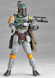 Wholesale New Star Wars Clone Wars Attack of the Clones Bounty Hunter Boba Jango Fett cm Action Figure Figurine Toy With box E313