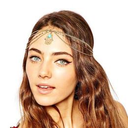 Bohemian Designer Luxury And Large Multi Layer Chains Tassel Eye Head Accessory Gold Forehead Pendants Palm headbands Jewelry