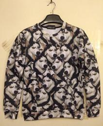 Wholesale FG1509 Ada New fashion women Crazy much husky dog doge animal print d sweatshirt hip hop hoodies novely dog d casual pullover