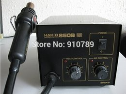 EXPRESS FREE SHIPPING SMD220V HAKKO 850B+ Desoldering Rework Station Hot Air Blower Heating Gun with 3 free nozzle