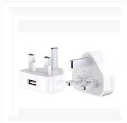 Wholesale Triangle British regulation Hong Kong charger Apple V A USB charging head plug A Three Foot Rules Wall Chargers For Iphone Charging Head