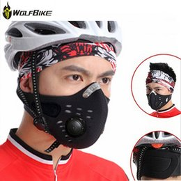 Wholesale WolfBike Bicycle Surgical Mask Mountain Road Bike Cycling Anti fog Dust proof Mask with Filter Outdoor Sports Training Mask