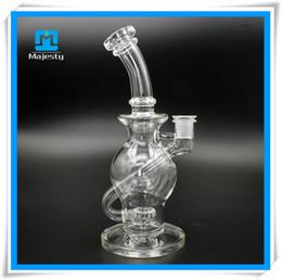 Mothership recycleur à vendre-2,015 en verre épais tuyau Mothership Bong en verre en verre 11 pouces Recycler verre 14 mm pour Herb sec