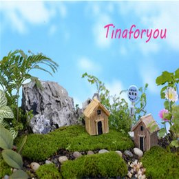 Wholesale 2015 Hot Resin Ornaments Small Wooden House Chalet DIY Assembling Toys Home Gardening Decoratio Mini Room