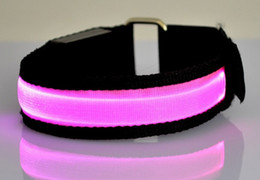 Wholesale Led Arm band Safety Reflective Belt strap Snap Wrap Wrist Ankle Armband for Outdoor Sports Party