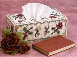 Wholesale 3d cross stitch tissue box handmade DIY Crafts needlework embroidery kits for home decoration Unique Craft Cuboidal Invoative Items