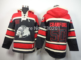 2016 New, chicago blackhawks #50 Corey Crawford Lace Up Pullover Men's ice hockey hoodies