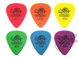 Free shipping 100 piece Guitar Picks Dunlop Tortex Standard 50mm.60mm.73mm.88mm.1.0mm.1.14mm Guitar Pick