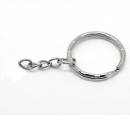 Wholesale Sell Factory price Antique Silver Band Chain key Ring DIY Accessories Material Accessories