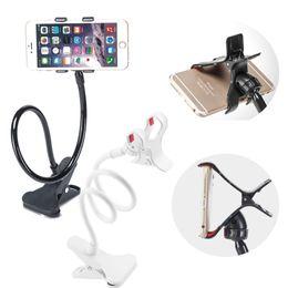 Wholesale Desktop Bed Holder Clip Car Phone Holder for Iphone Plus Air Frame Mount edge Mobile Phone Holder GPS Stand Support Holder XW1