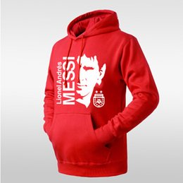 Wholesale Barcelona s Lionel messi Barcelona messi logo image Football hooded sweater jacket for men and women ZJ1063