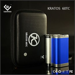 Original Vapor Tech Kratos 60W TC Box Mod Digital Graphic Interface 60W temperature control fit 18650 battery morpheus v2 tank Free DHL