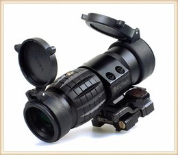 Wholesale New Tactical X Magnifier Scope Optics Scopes Riflescope Fits Aimpoint Sight with Flip To Side Picatinny Weaver Rail Mount
