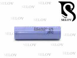100% authentic samsung inr18650e 29E 3.7V 18650 2900mah lithium ion cell made in Korea Flat top